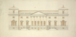 Elevation of Holkham, Norfolk, the seat of the Earl of Leicester 42-d